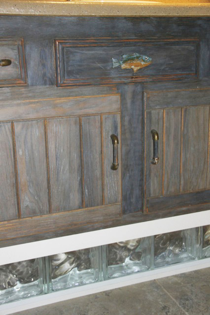 Driftwood Weathered Wood Finish Bathroom Vanity